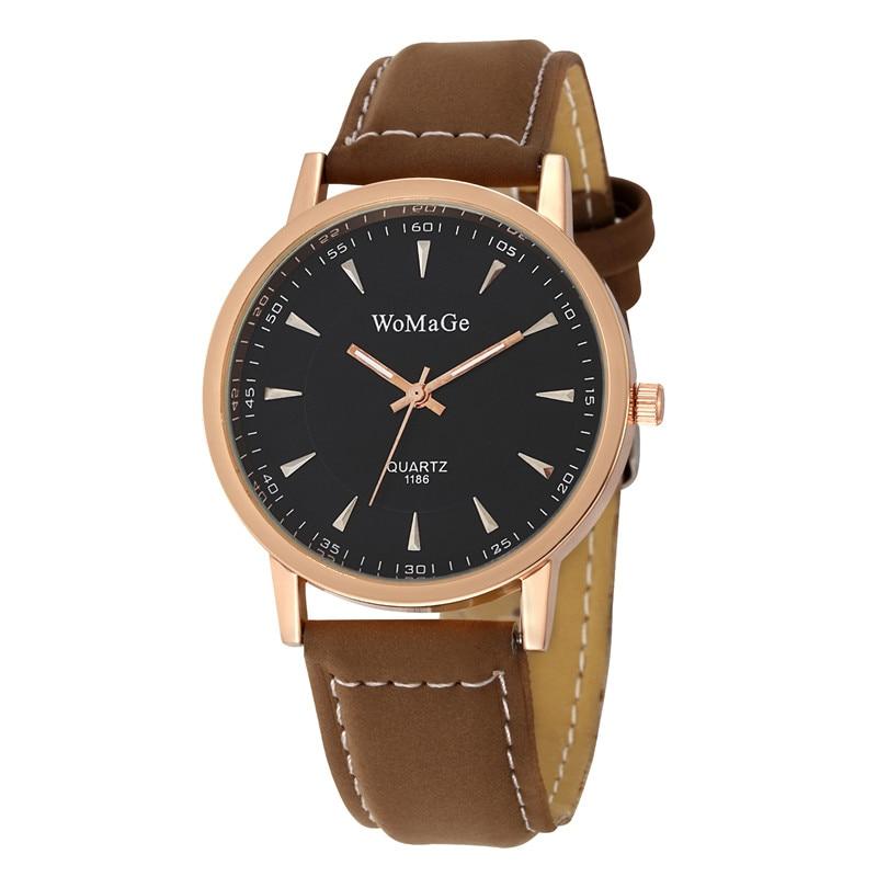 New Fashion Woman Watch 2018 Elegant Dress Classical Business Quartz Watch For Women Leather Strap Lady Watch Unisex Wristwatch