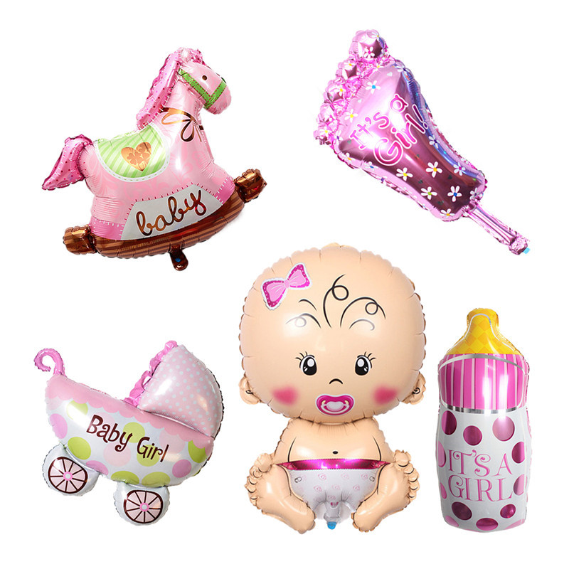 Foil Balloons Baby Boy Birthday Cake Air Balloons  Girl Birthday Inflatable Party Decorations Kids Cartoon Hat
