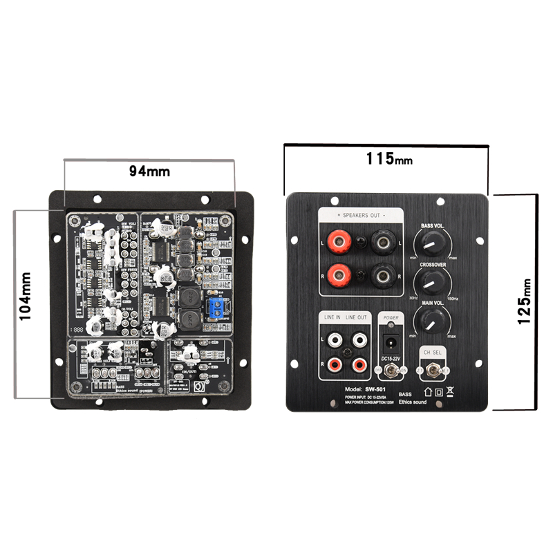 Image 2 - HIFIDIY LIVE speakers 2.1 Subwoofer Speaker Amplifier Board 