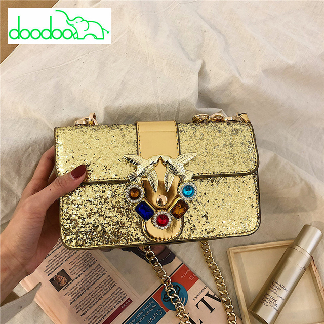 2018 Luxury Designer Glossy Lady Swallow Lock Messenger Bags Famous