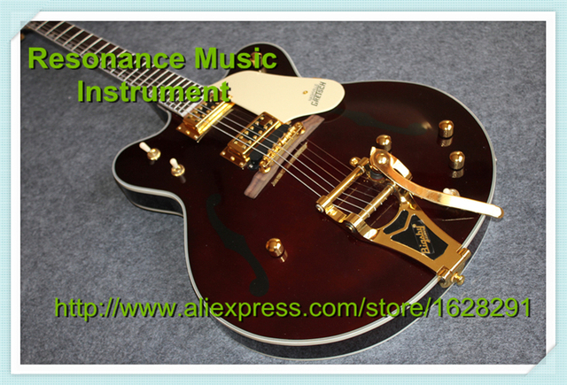 Cheap 100% Real Pictures Gretsch G6122-1962 Chet Atkins Country Gentleman Electric Guitar Brown Color Guitar China In Stock
