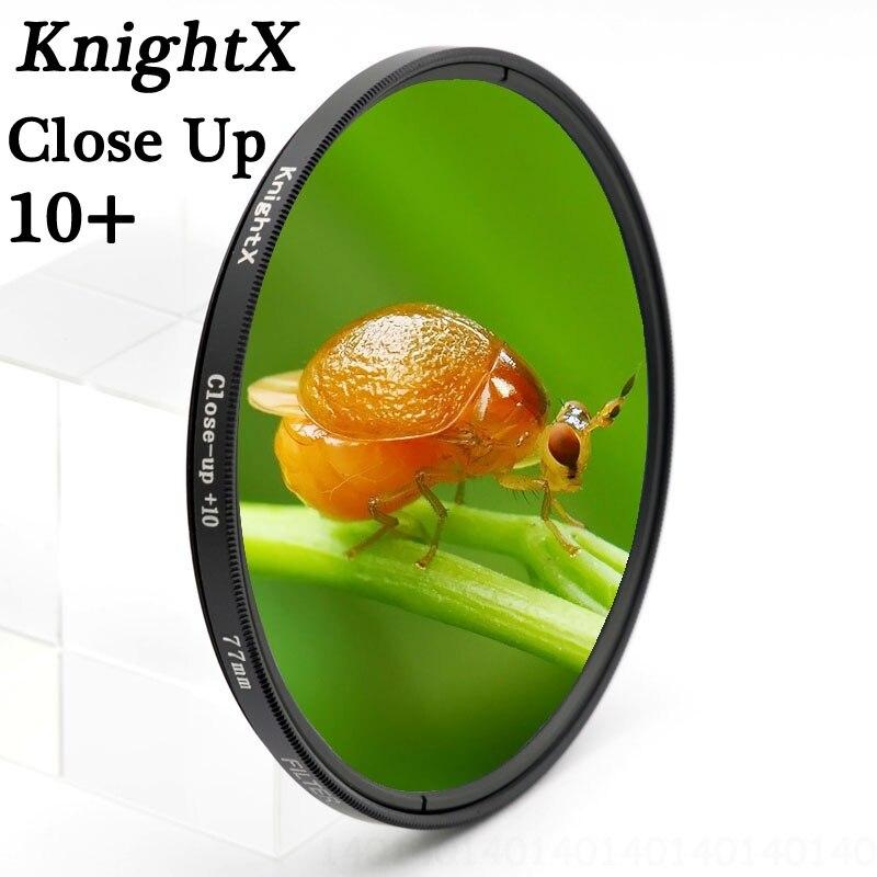 KnightX Close Up 49mm 52mm 55mm 58mm 67mm 77mm Filtro de lente Macro para Nikon canon EOS DSLR go pro d5300 600d d3200 d5100 d3300
