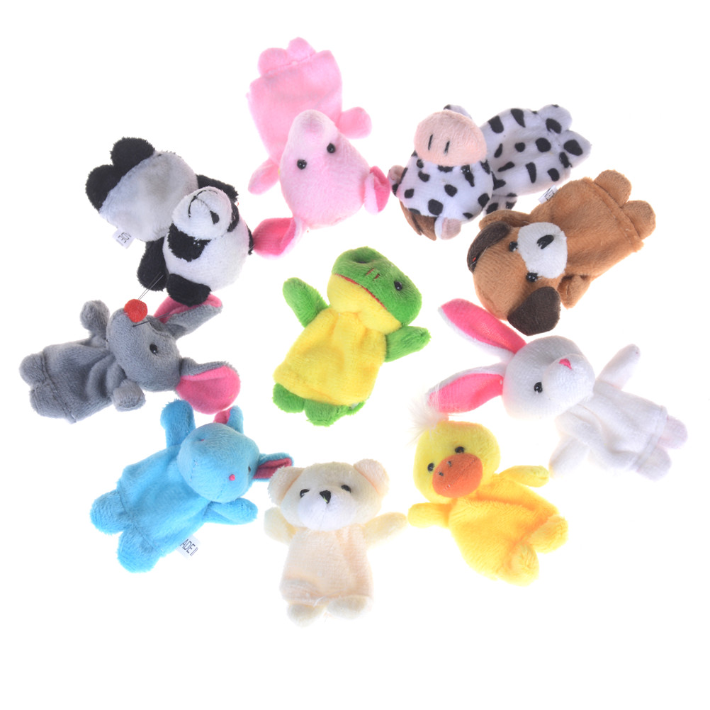 Cartoon Animal Finger Puppet Plush Toys Children Favor Dolls High Quality