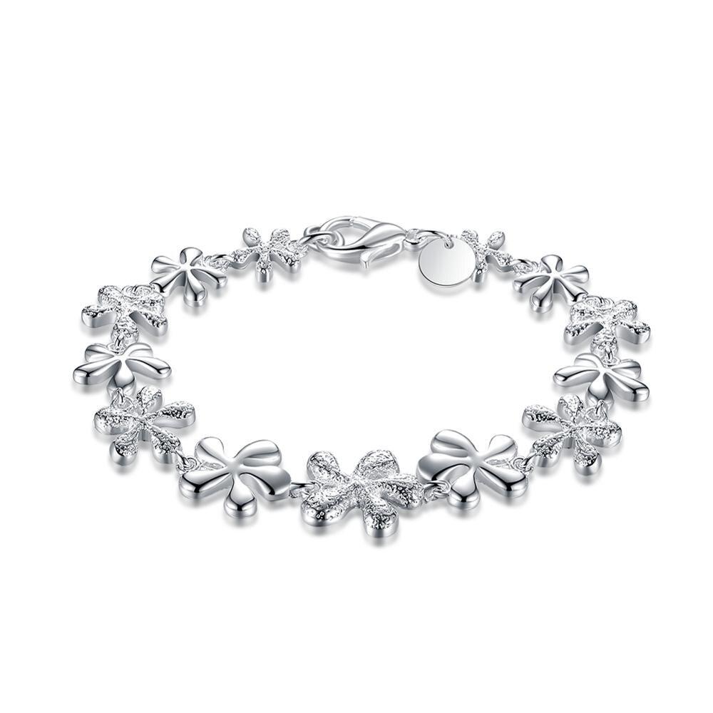 Plus Romantique Argent Pleine Multi Wintersweet Chaîne Femmes Filles  Bracelet Pour la Fête De Noël De Luxe Bijoux Embellissement Cadeau 091f0d556a18