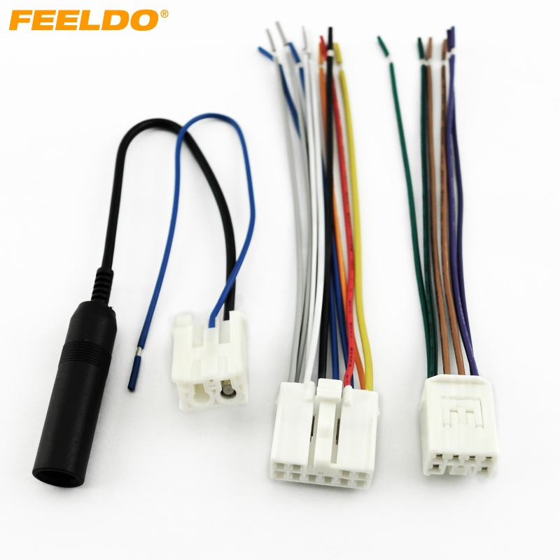 FEELDO Car Audio Stereo Wiring Harness Plug With Antenna Adapter For Toyota Scion Factory OEM Radio feeldo car audio stereo wiring harness plug with antenna adapter toyota stereo wiring harness adapter at honlapkeszites.co