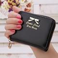 Mini wallet bowknot women wallets bag contracted zipper short purse card holder money bag wholesale promotional item 2016