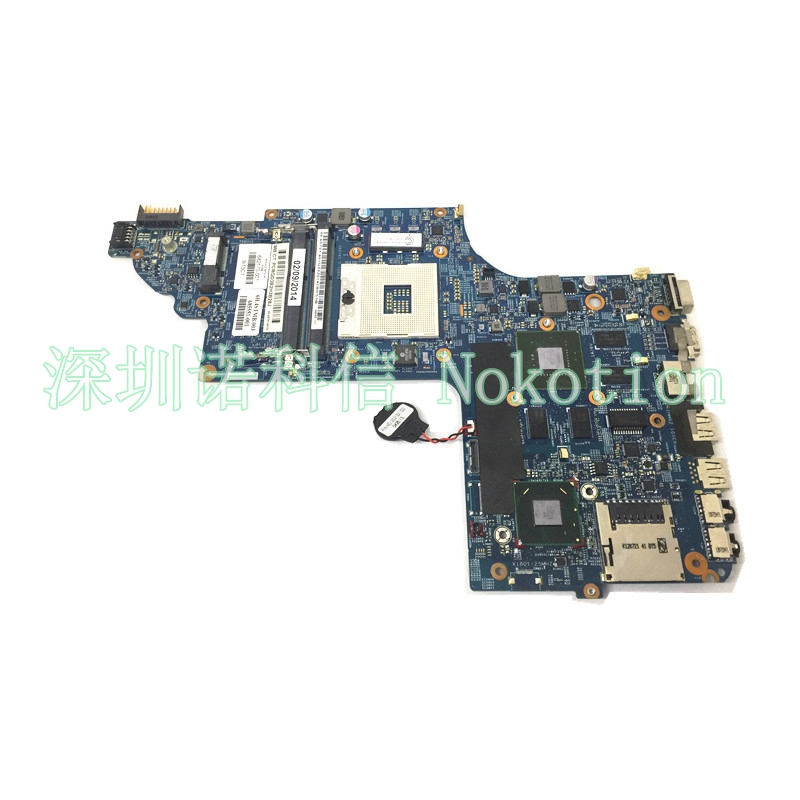 NOKOTION 682170-001 Laptop motherboard for HP PAVILION DV6-7000 HM77 GeForce GT630M GMA HD4000 DDR3 Mainboard Full Test nokotion 646176 001 laptop motherboard for hp cq43 intel hm55 ati hd 6370 ddr3 mainboard full tested