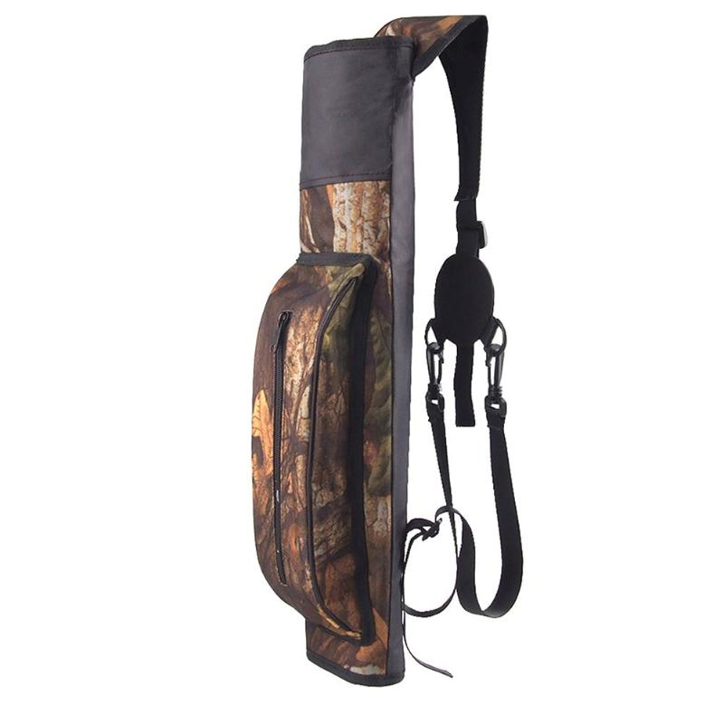 1pc Archery Compound Bow And Arrow Bag Shoulder Arrow Quiver Hunting Oxford Cloth Arrow Bag Recurve Outdoor Shooting 44X16X2cm