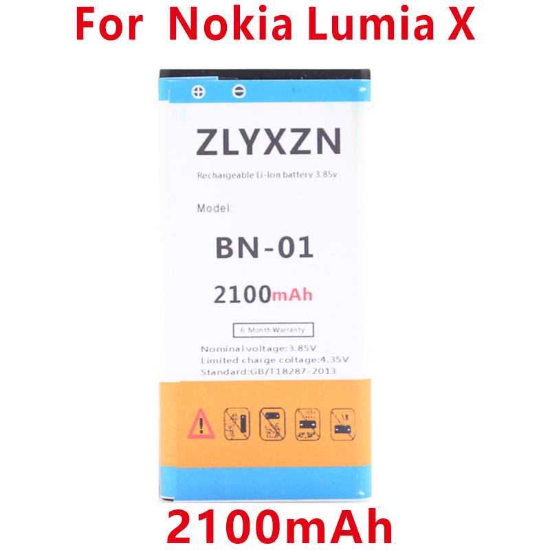 2100mAh BN-01 BYD BN 01 For NOKIA X 1045 <font><b>RM</b></font>-980 Normandy / X2 X+ Plus <font><b>1013</b></font> X2DS phone image