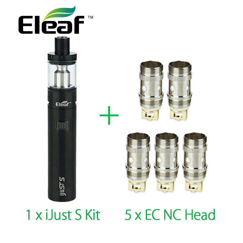 100% Оригинальные eleaf ijust S электронные сигареты kit 3000 мАч Батарея с 5 шт. eleaf EC NC катушки ijusts распылитель VS ijust 2