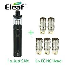 100% original eleaf ijust s kit de cigarrillo electrónico 3000 mah de batería con 5 unids ec ijusts nc coil atomizador vs eleaf ijust 2