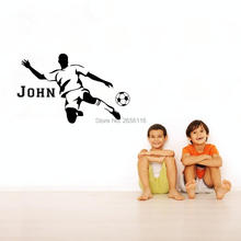 Personalized Soccer Player Custom Made Any Boys Name Wall Decor Stickers for Kids Gift