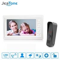 JeaTon 7 White Color HD Video Doorphone Door Entry Intercom Systems 1200TVL Outdoor Doorbell Camera 1