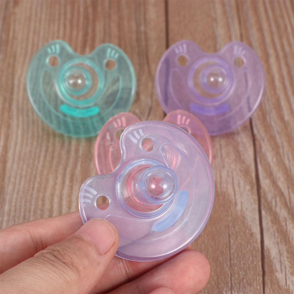 Newborn Kids Baby Silicone Nipple Pacifier Orthodontic Dummy Pacifier Infant Silicone Nipple Soother