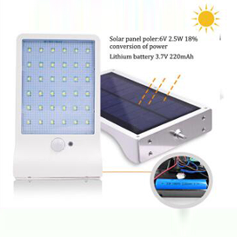 Led Solar Light Outdoor Waterproof Solar Lamp PIR Motion Sensor Solar Power Rechargeable Solar Garden Light Street Light (3)