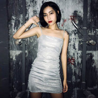 Summer dresses women shine Unif Sheath cotton dress Party Club Wear mini dresses White robe femme ete 2018 short dress