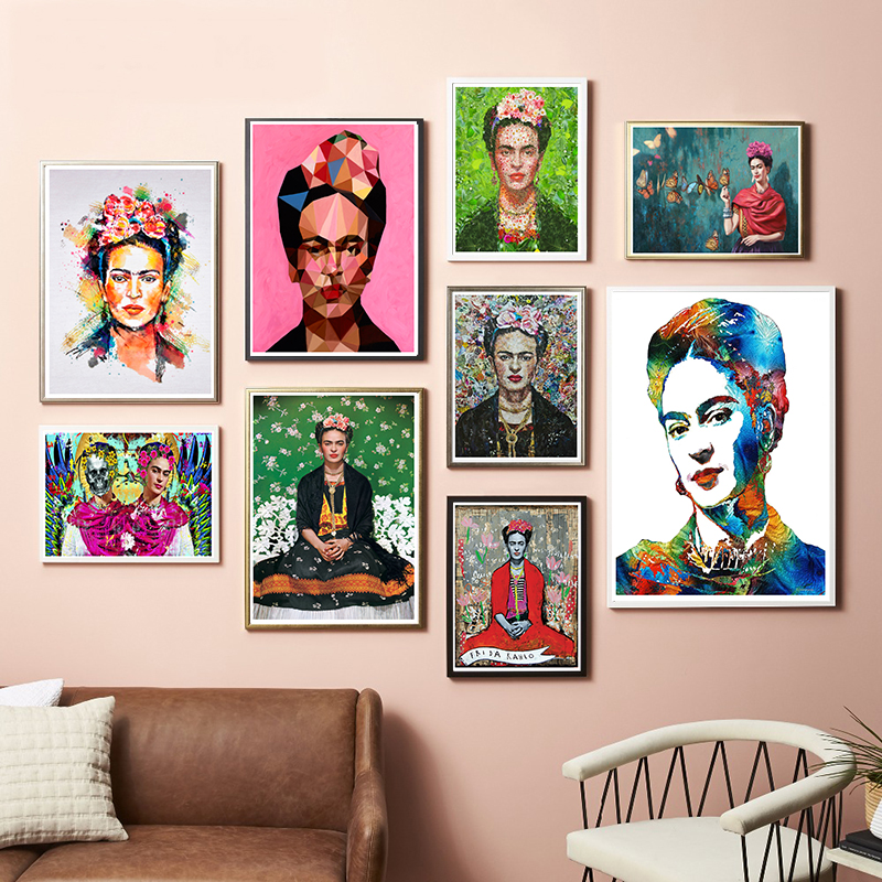 Frida Kahlo Self Portrait Art Print Painting Coated Paper