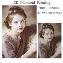 5D DIY Diamond Mosaic Photo custom Picture Round Rhinestones diamond Painting needlework cross stitch Unique Gift