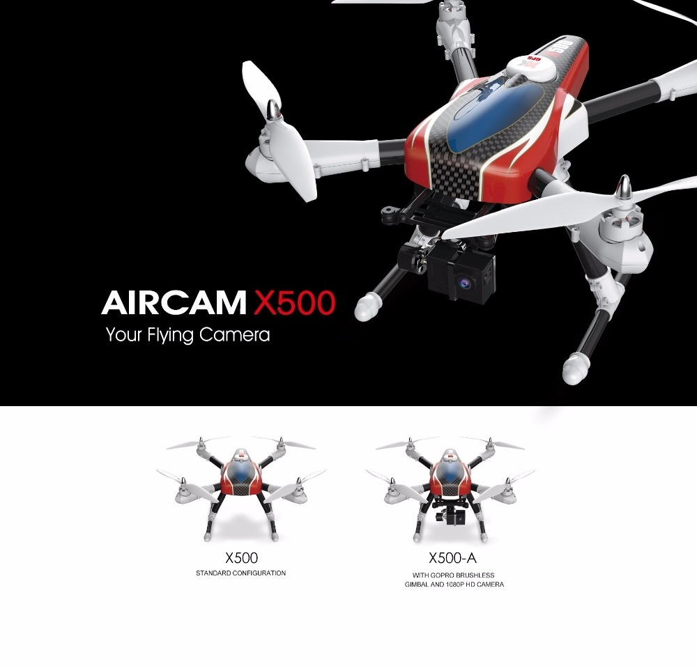professional GPS rc font b drone b font X500 X500A 2 4G With GPS HD camera