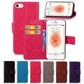 Caso capa de couro da aleta do vintage para apple iphone se 4 5 s 5G Telefone Saco Da Capa do Livro Estilo com Suporte Luxo Para iPhone5 4S 5S