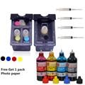 11.11New For HP 21 22 Refillable Ink Cartridges for HP21 22 + 4 color ink  For hp deskjet1400 PSC 1410 HP DeskJet 3910 3915 3930