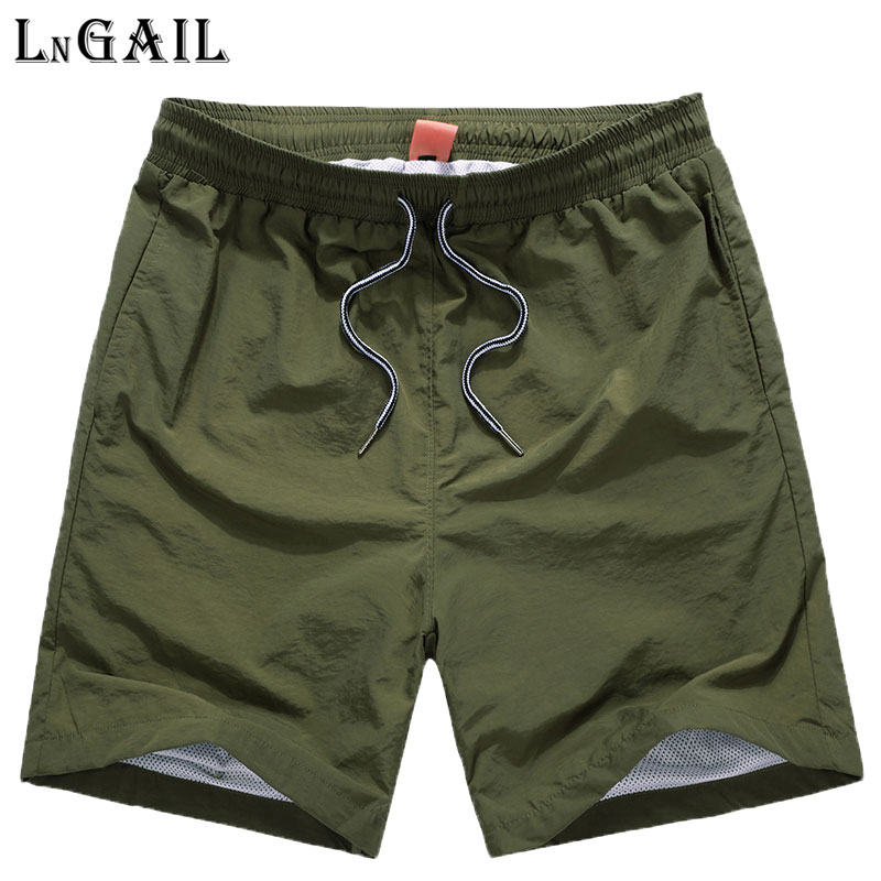 Breathable mesh fabric Shorts Men 2017 Summer Fashion Men Shorts Casual Beach Shorts Joggers Trousers Solid Color Size 4XL