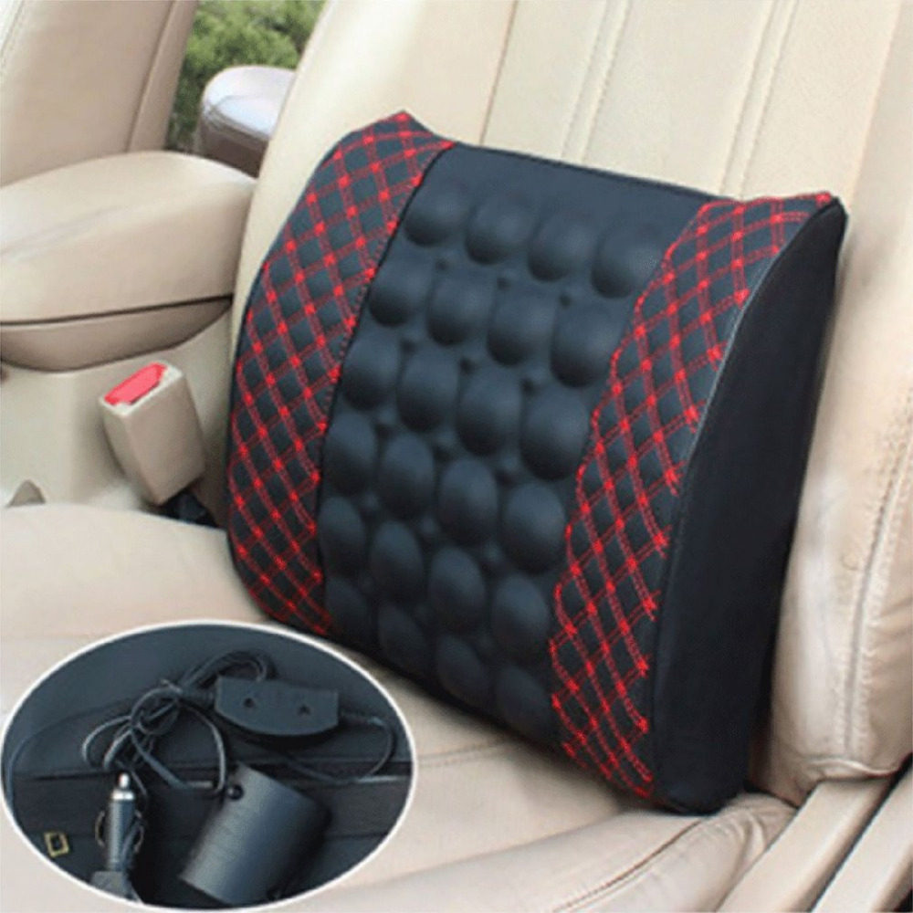 Automobile Interior Decorations Car Massage Electric Waist Cushion Magnetic Vibrating Massage Lumbar Protective Hot Sale