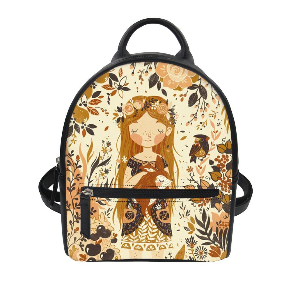 Thikin Kawaii Animals Cute Baby Backpack for Teen Boys Girls Travel Mochila PU Mini Zipper Schoolbag Student Preppy Style Bag in Backpacks from Luggage Bags