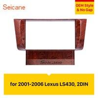 Seicane Double Din Car Radio Fascia DVD Panel Dash Trim Kit Refit Frame Dashboard For 2001 2002 2003 2004 2005 2006 Lexus LS430