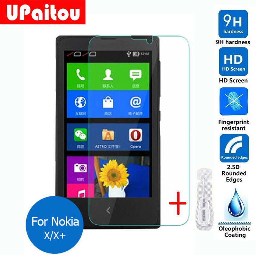 For Nokia X Tempered Glass Screen Protector 0.26mm 2.5 9h Safety Protective Film on X+ Lumia 1045 A110 Dual Sim normandy