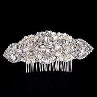 Bán buôn new tóc cô dâu đám cưới chải lại với Silk sợi thời trang ornament trang sức phụ kiện