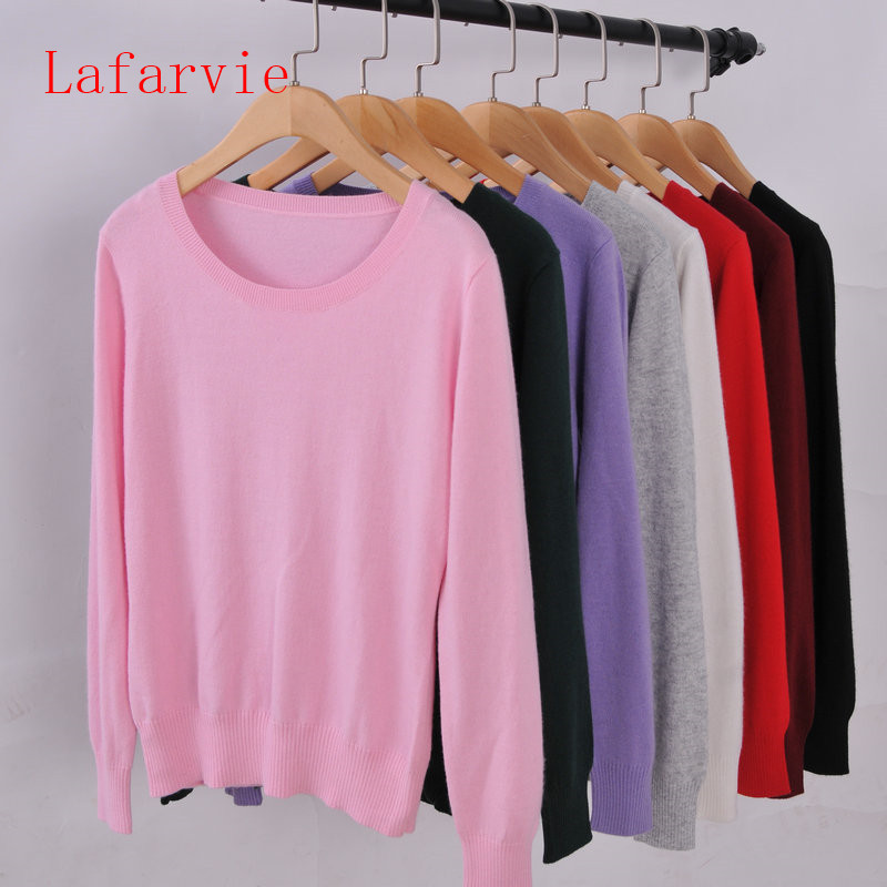 Lafarvie Sweater Women Pullovers 2017 Winter Long Sleeve Wool Female Pullovers Kintted Brand Name Women Cashmere Pullovers
