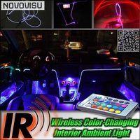 NOVOVISU Wireless IR Control Car Interior Ambient 16 Color Light Light For Mercedes Benz CLK MB C208 A208 C209 A209 C207 A207