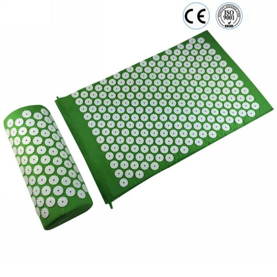 цена на Massage Mat Massager cushion Acupressure Mat Relieve Stress Pain Acupuncture Spike Yoga Mat with Pillow Drop shipping
