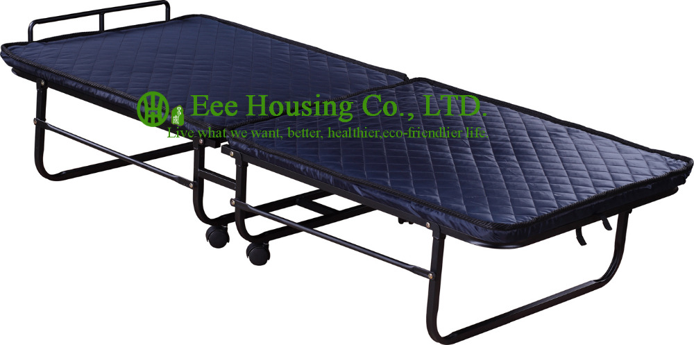 Hotel Extra Folding Bed,6cm Sponge Rollaway Beds For Hotel Guest Room , Single Size Roll Away Folding Hotel Extra Bed