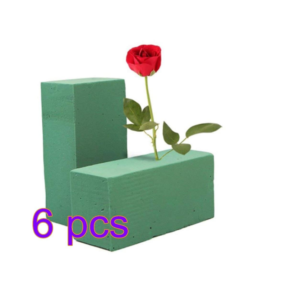 6Pcs Floral Foam Bricks Florist Flower Styrofoam Bricks Applied Dry Or Wet For Fresh Cut Arrangements For Adult Children DIY Toy