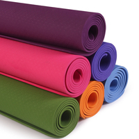 1830 * 610 * 6mm TPE Yoga Mat with Position Line Non Slip Carpet Mat for Beginners Physical Exercise Yoga Practice