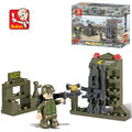 Sluban 44pcs DIY Armoury Land Forces For Kids Educational Assembly bricks Toy Set building blocks toys for children