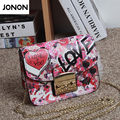 2017 Famous Brand Genuine Leather Woman Bag Handbags Chain Graffiti Letters Printing Messenger Bags Crossbody Shoulder Bags
