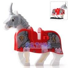 DR.TONG 20PCS/LOT War Horse Mini Dolls Super Heroes Medieval Rome Knights Building Blocks Bricks Toys Children Gifts XH596