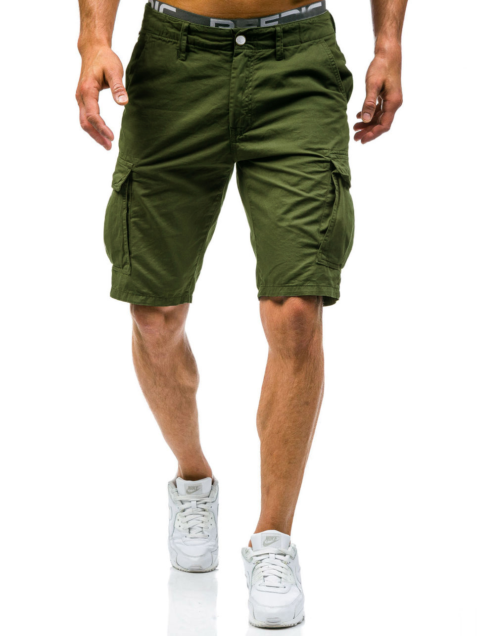 New 2018 Men Cargo Shorts Casual Loose Short Pants Camouflage Military Summer Style Knee Length 2 Colors Shorts Men