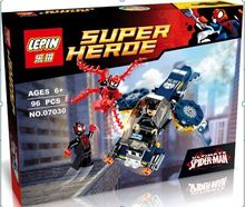 LEPIN 07030 DC Hero Mighty Micros Ultimata Spider Man Minifigures Building Block Toys Classic Movie Compatible with Legoe
