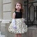 Детские Платья Черного Свадьба Принцесса Свадебные Платья 2017 Мода Детская Одежда Для Девочек 1 2 Лет AKF164077