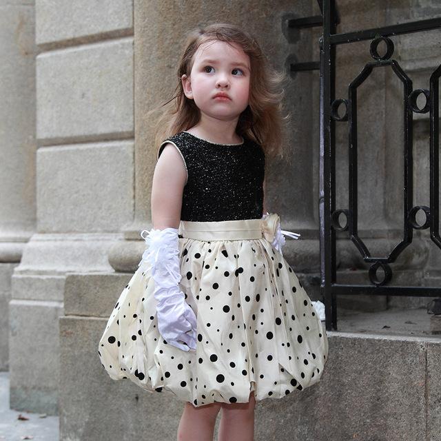 Bebé Niña Vestidos de Princesa Vestidos De Novia Negro 2017 Ropa de Bebé de Moda Para Niñas De 1 2 Años de Edad AKF164077