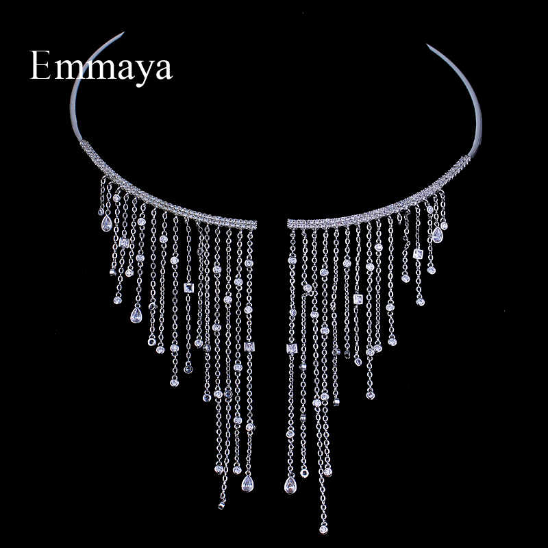 Emmaya Chocker Necklace Jewelry Popular Zircon Romantic Charm Romantic Necklace Crystal For Women Gift Party
