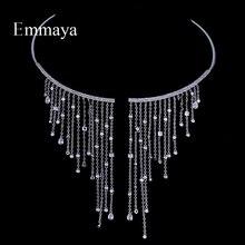 Emمايا عقد شوكر مجوهرات شعبية الزركون رومانسية حلية قلادة رومانسية كريستال للنساء حفلة هدية