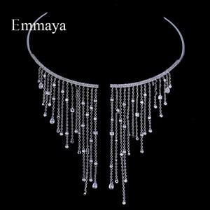 Image 1 - Ожерелье чокер Emmaya, ювелирные изделия, популярное циркониевое романтическое ожерелье, романтическое ожерелье с кристаллом для женщин, вечерние