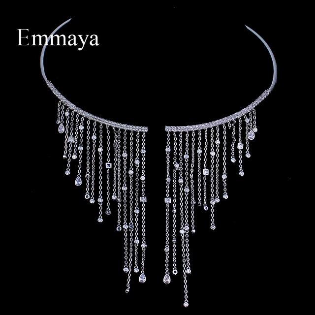 Ожерелье чокер Emmaya, ювелирные изделия, популярное циркониевое романтическое ожерелье, романтическое ожерелье с кристаллом для женщин, вечерние