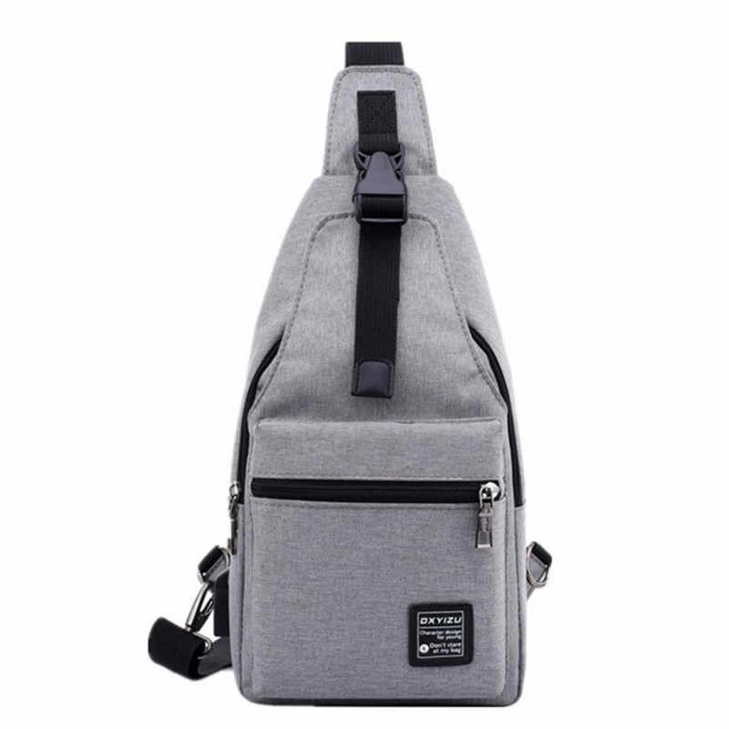 Mochilas men Single Strap Canvas Backpack male shoulder triangle wearproof bag chest package casual backpack free holograms
