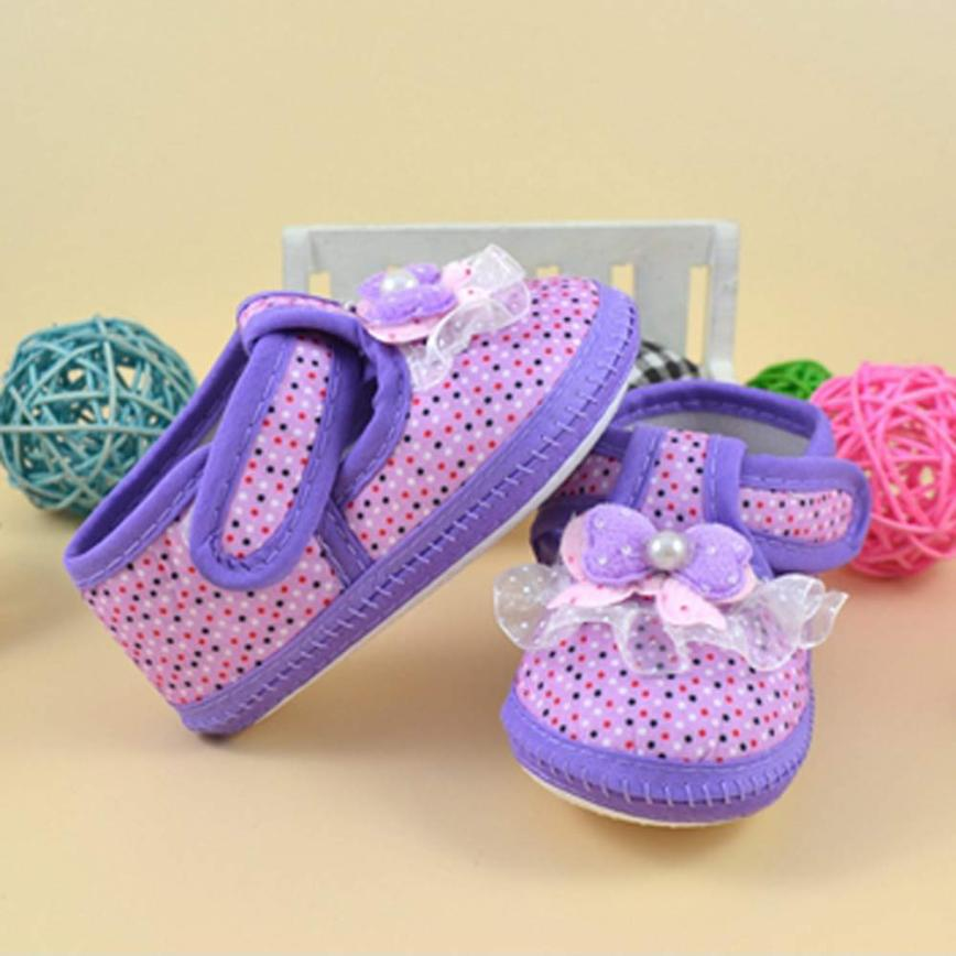 Baby Unisex Shoes Purple Newborn Kids Baby Bowknot Boots Soft Crib Shoes 18Jun12